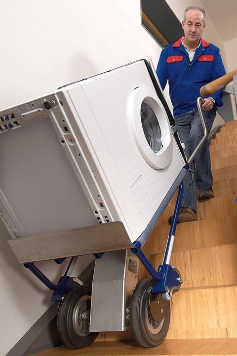 CargoMaster Sube-escaleras Eléctrica A142 Carretilla Manual 140 kg Subir escalones con neveras electrodomesticos