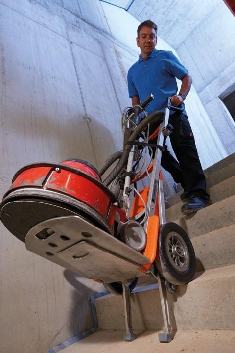 CargoMaster Sube-escaleras Eléctrica CC200 Carretilla Manual con maquinária pesada industrial