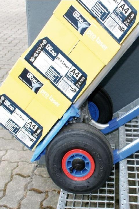 Carretilla manual 'favorita' pala pequeña EXPRESSO aluminio ruedas neumáticas con cajas de folios