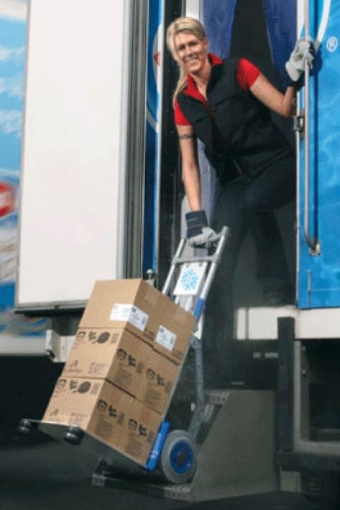 Carretilla Manual EXPRESSO Mercancías Congelados o Frágilesfácil de cargar y descargar la mercancía de su furgoneta