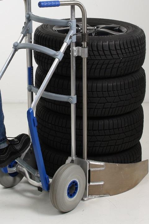 Carretilla Manual EXPRESSO Para Neumáticos con accesorio pedal para facilitar el comienzo de la marcha