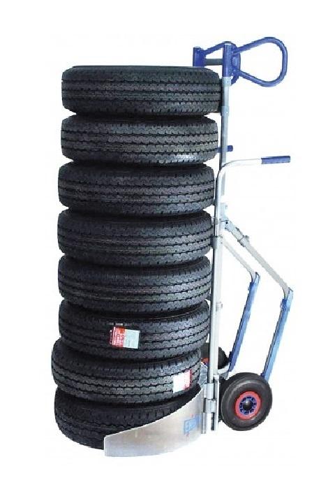 Carretilla Manual EXPRESSO Para Neumáticos con capacidad de carga de hasta ocho ruedas