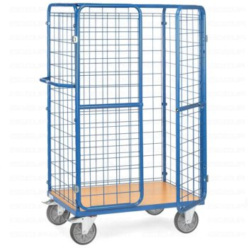 Carro Plataforma de Carga - Jaula Alta Con Puertas - 600 kg
