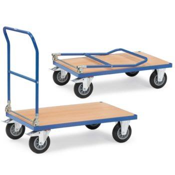 Carro Plataforma de Carga Plegable - Acero tubular soldado y acero seccional - 600 kg - Sitramo's Carretillas