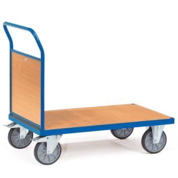 Carro plataforma de carga con pared frontal de madera - 600kg - Sitramo's Carretillas