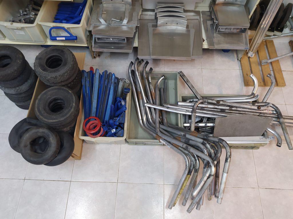 Goma, Plástico y Aluminio para reusar o reciclar